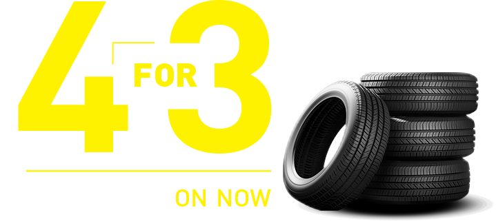 4 for 3 Tire Event